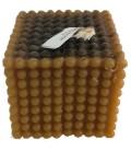 Bougie en cire d'abeille cube